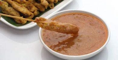 concepto salsa satay